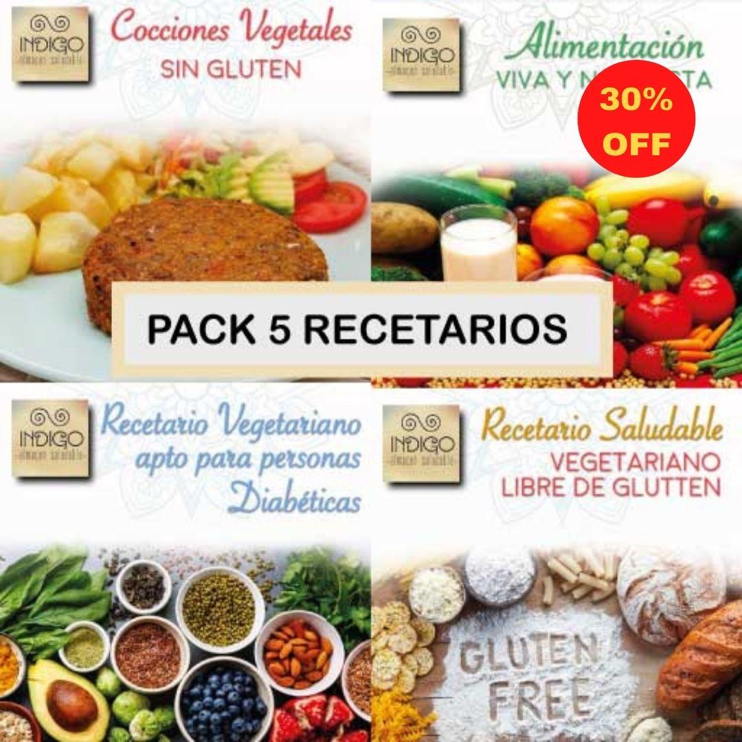 pack 5 recetarios